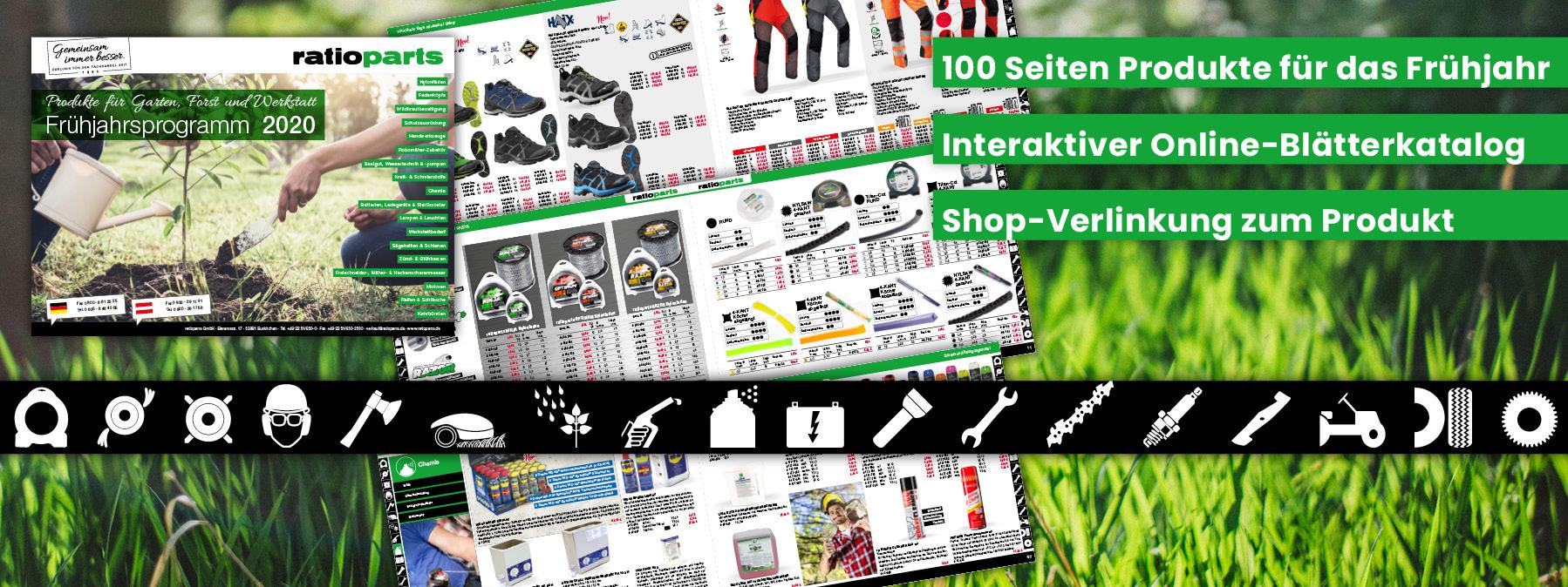 Frühjahrsprogramm 2020 - Produkte für Garten, Forst und Werkstatt