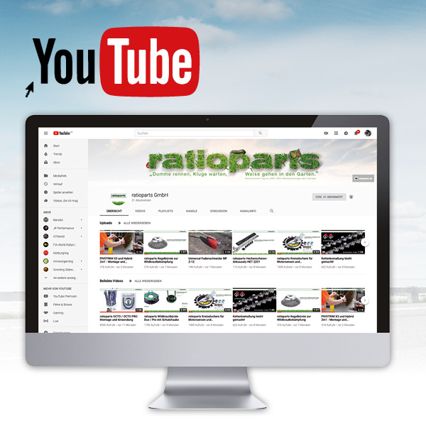ratioparts Youtube channel