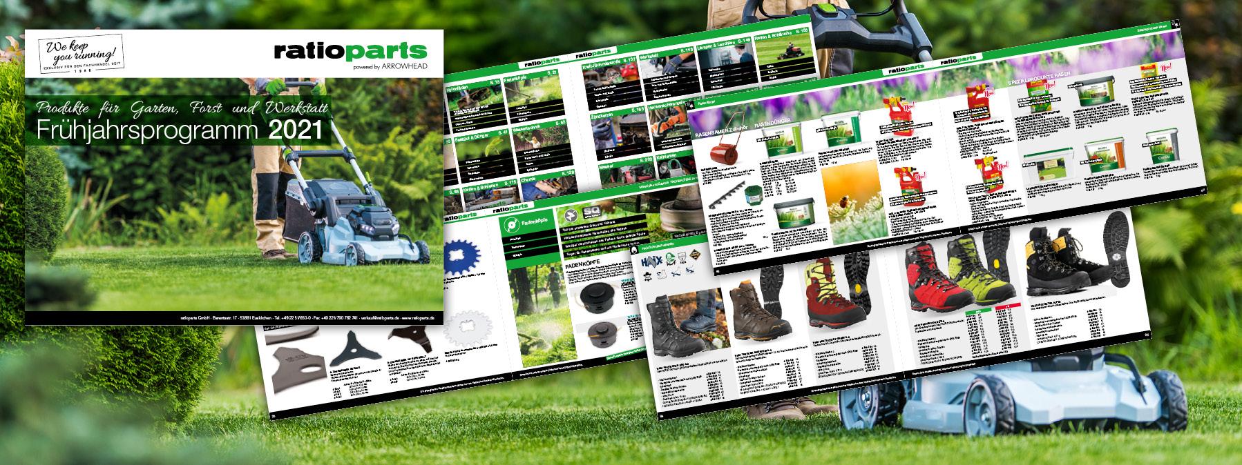 Unser Frühjahrsprogramm 2021 - Produkte für Garten, Forst und Werkstatt